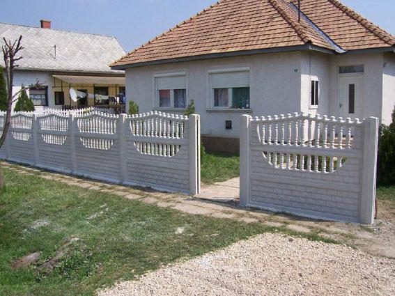 Színes beton kerítés elemek